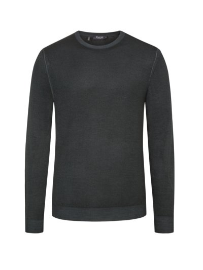 Sweater made of 100% merino wool v GREEN