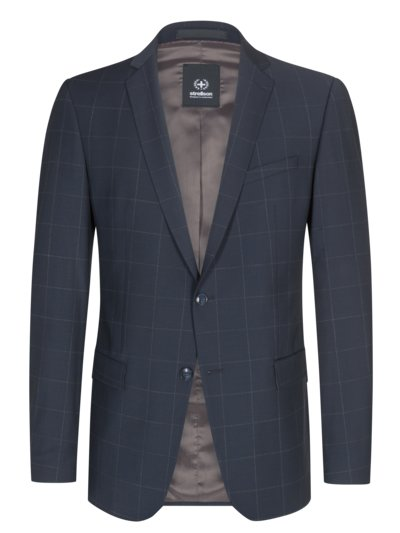 Suit separates jacket in grid check v MARINE