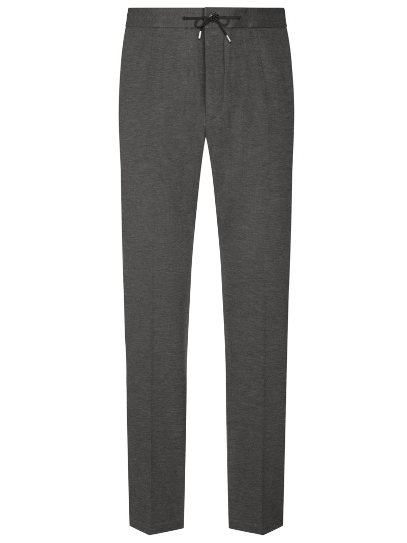 Strellson Formal trousers in a jogger style GREY in plus size
