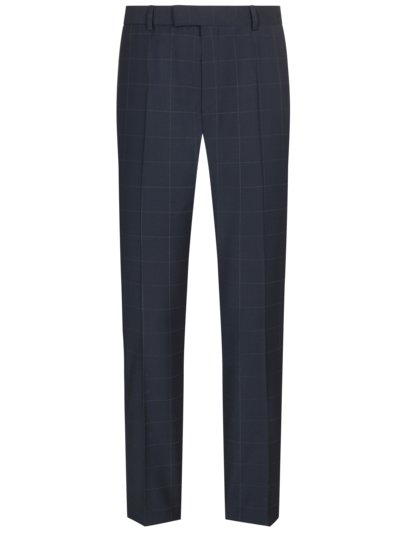 Business trousers with grid check pattern v MARINE