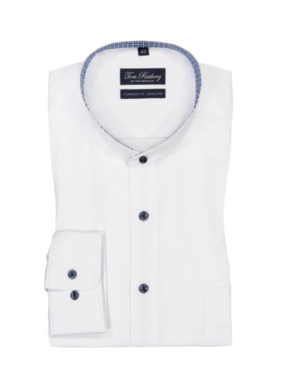 Shirt with standing collar, Comfort Fit, non-iron v WHITE