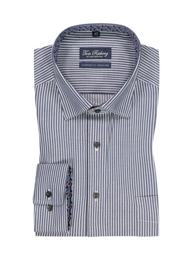 Business shirt with a stripe pattern v BLUE