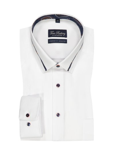 Shirt with breast pocket, Comfort Fit v WHITE