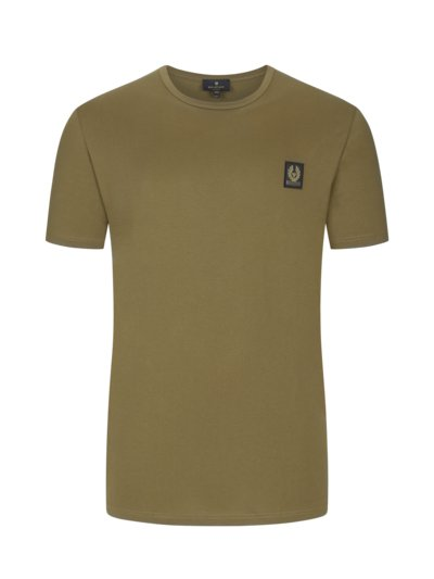 T-Shirt mit Logo-Patch in OLIV