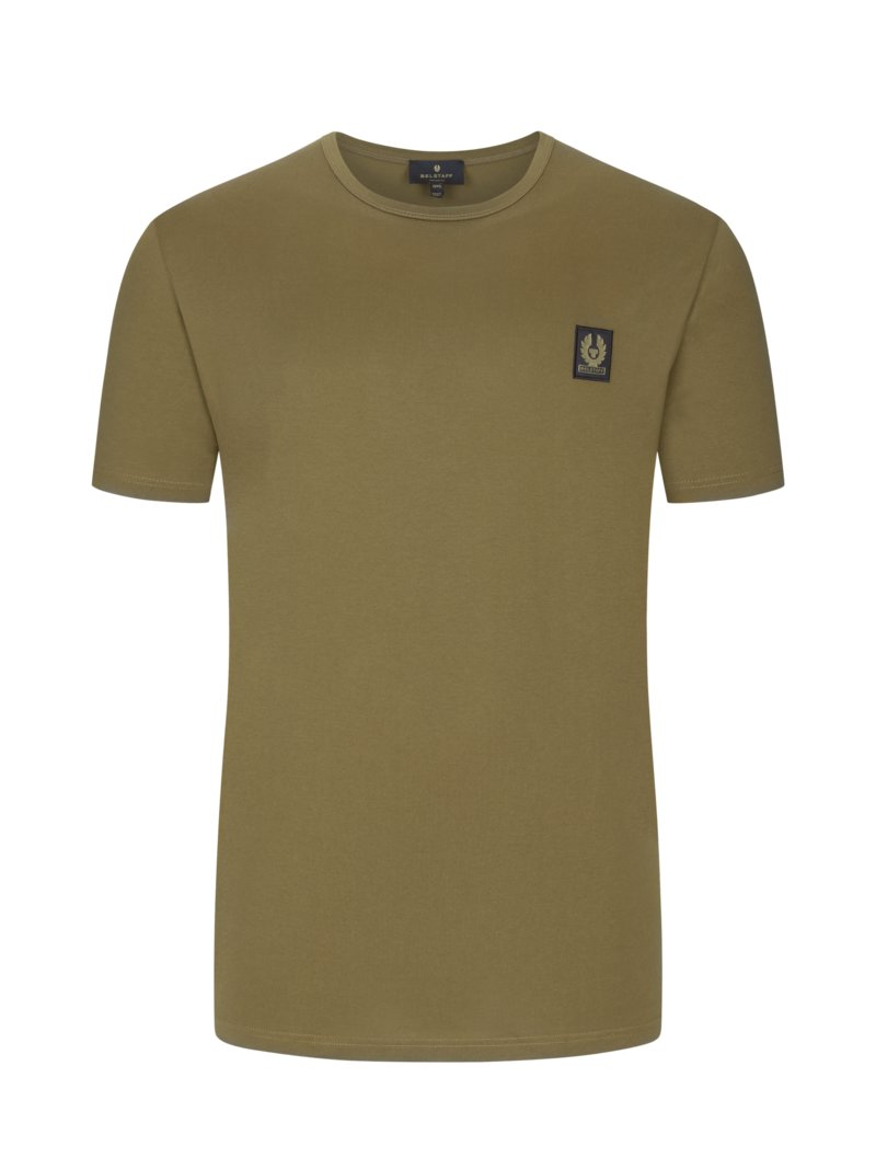Belstaff T-shirt with logo patch OLIVE- in plus size