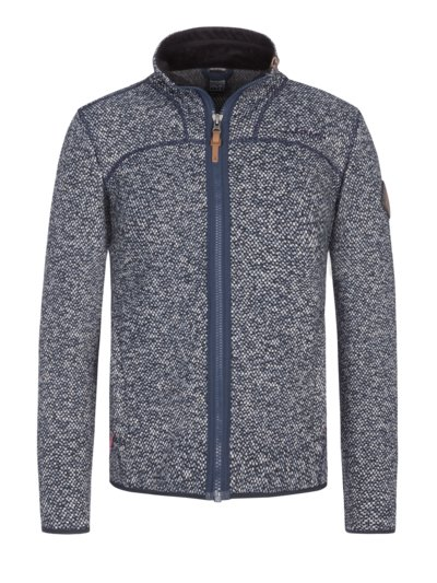 Fleece jacket with textured pattern, Anchorage v BLUE
