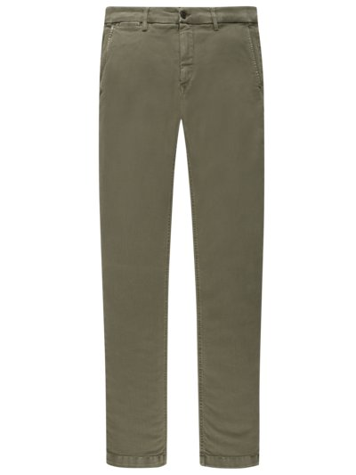 Chinos in a denim look, Hyperflex v OLIVE-