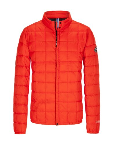 Lightweight quilted jacket v RED