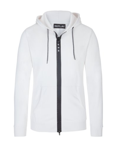 Sweatjacke mit Kapuze in OFFWHITE
