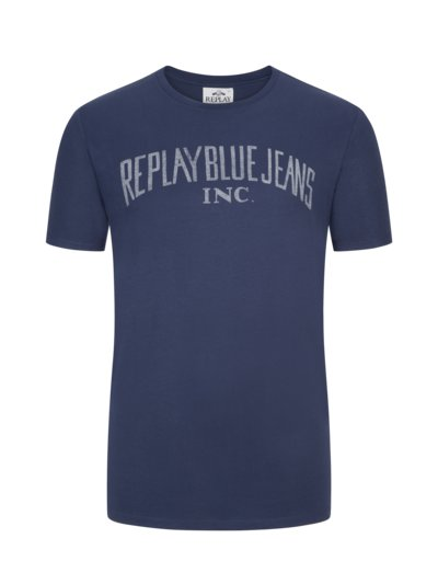 T-shirt with logo lettering v MARINE