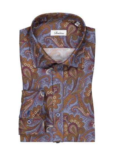 Shirt with paisley pattern v BLUE