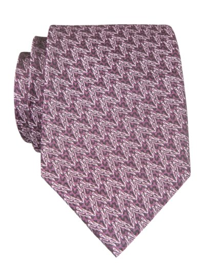 100% silk tie with stain protection v LILAC