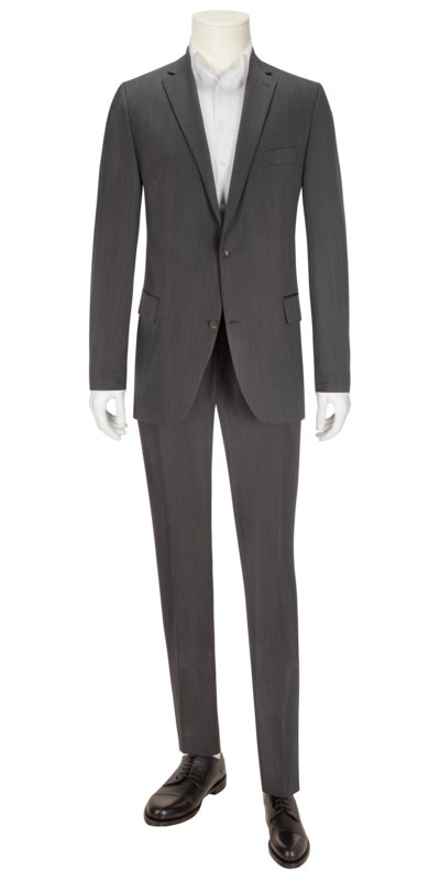 Business suit with micro texture v ANTHRACITE
