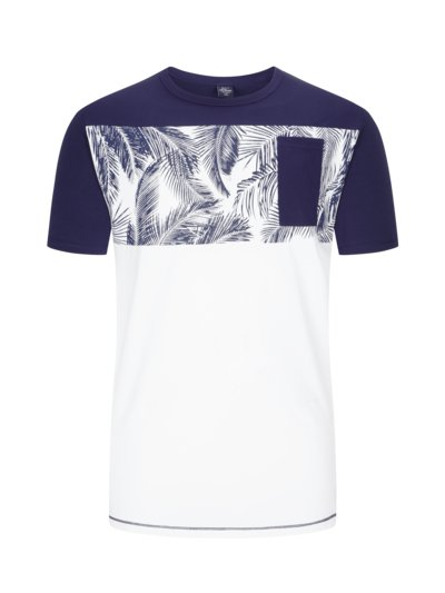 T-Shirt, extralang in BLAU