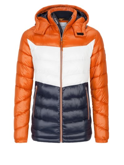 Trendy quilted jacket v ORANGE