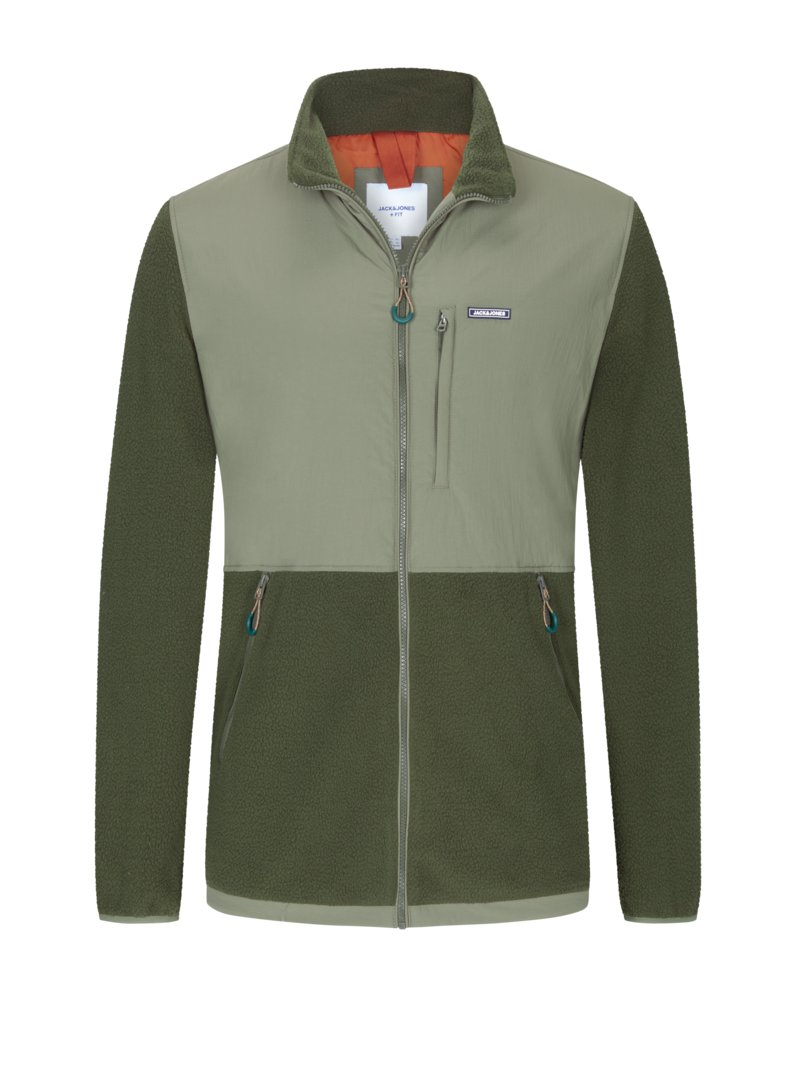 Jack & Jones Stylish casual jacket OLIVE- in plus size