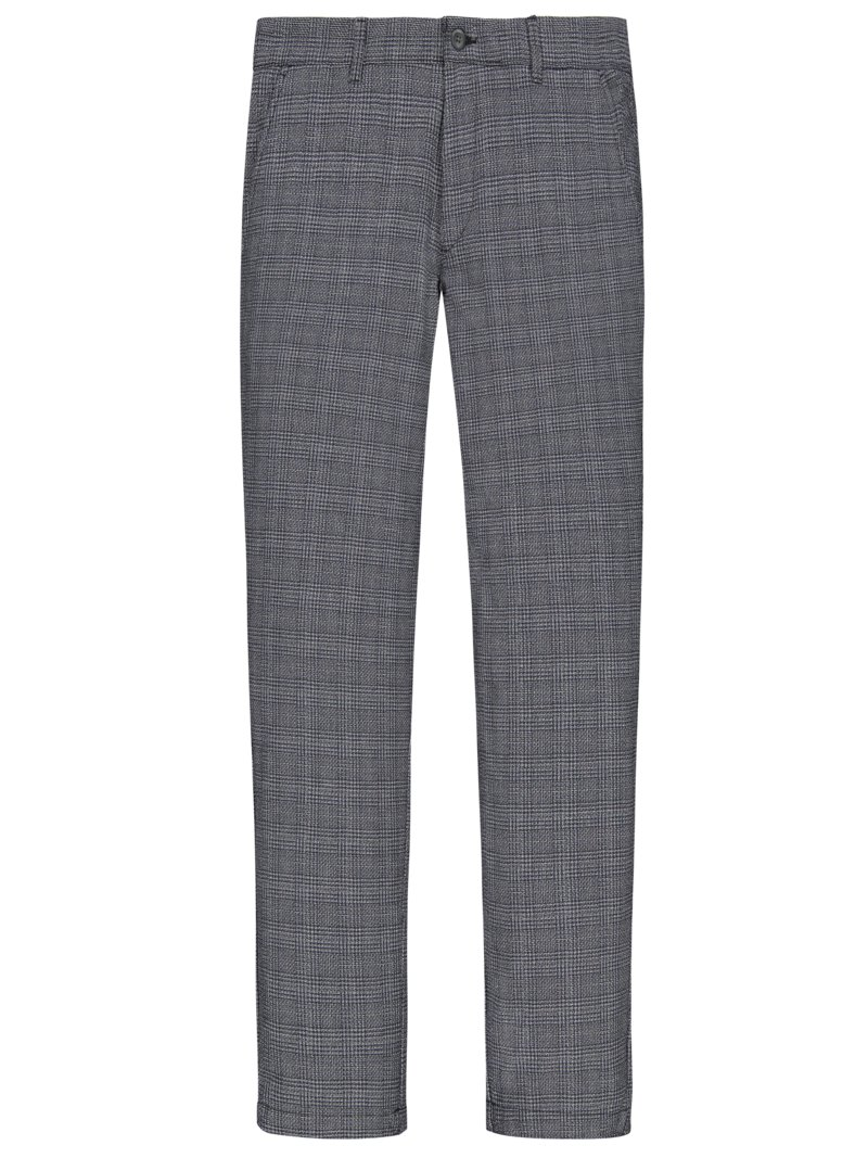 Jack & Jones Chinos with glen check pattern MARINE in plus size