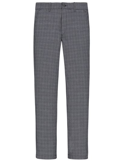 Formal trousers with glen check pattern v MARINE