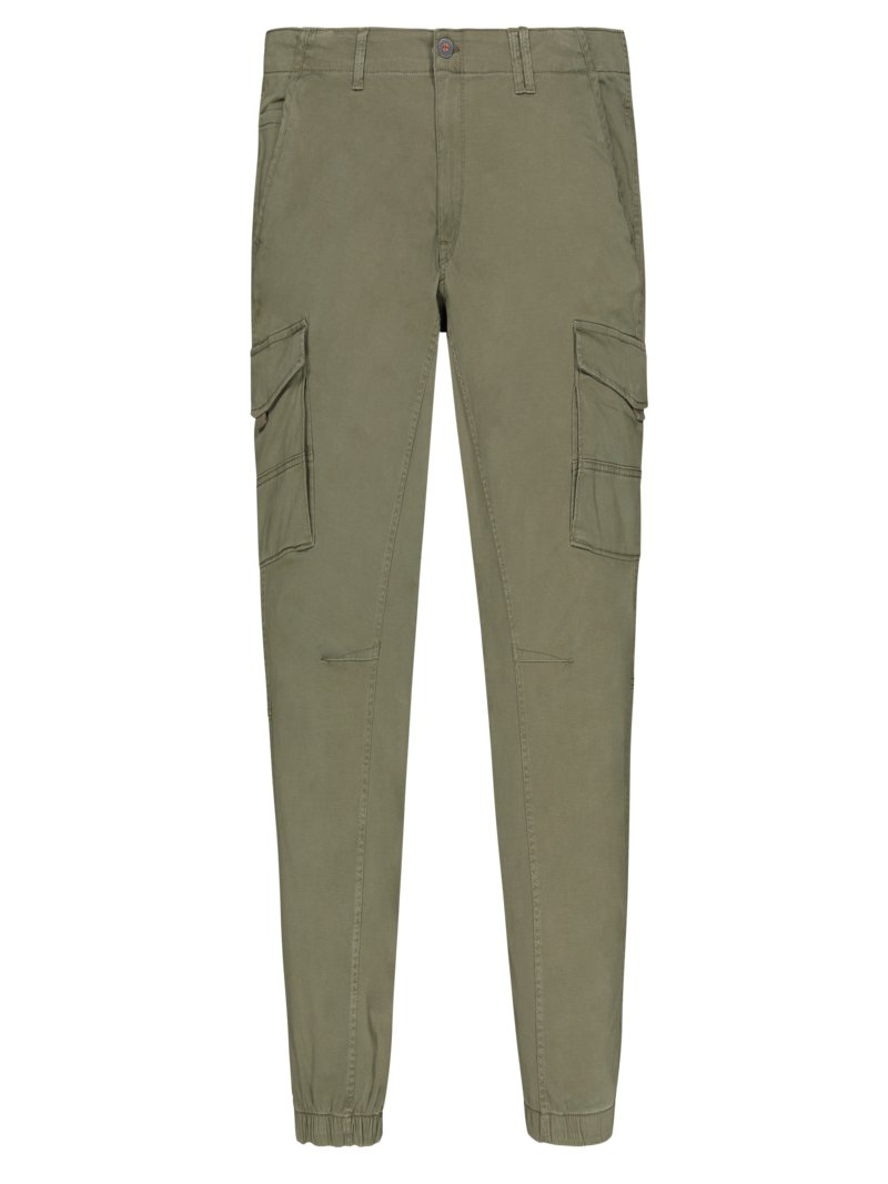 Jack & Jones Cargo trousers with stretch, Paul OLIVE- in plus size