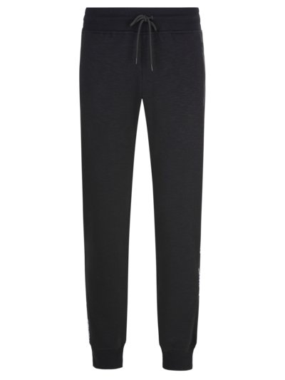 Cotton blend sweatpants v BLACK