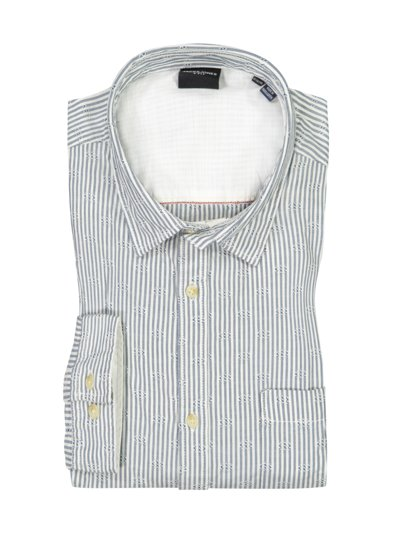 Shirt with striped texture v LIGHT BLUE