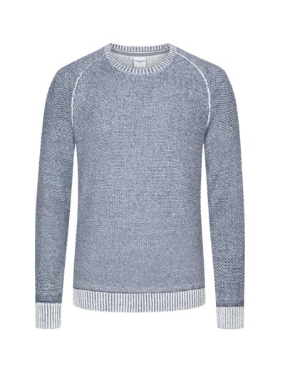 Sweater with a mottled texture v BLUE