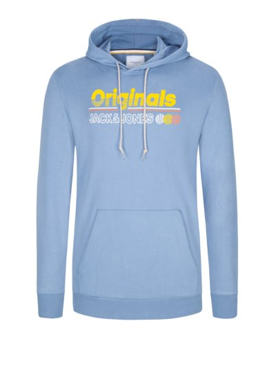 Sweatshirt with front print v LIGHT BLUE