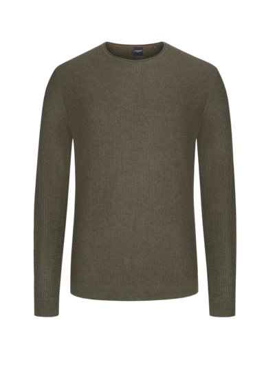 Sweater with stylish texture v OLIVE-