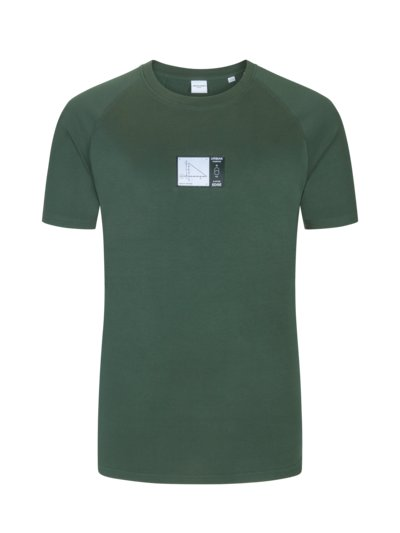 T-shirt with patch on the front v GREEN