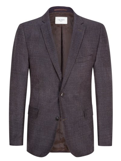 Smart-casual jacket with micro texture, Super 110 virgin wool v BROWN