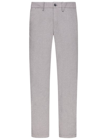 Chinos with micro texture and stretch v LIGHT GREY