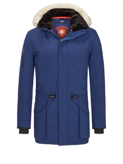Parka with faux fur details, Vulcano v ROYAL