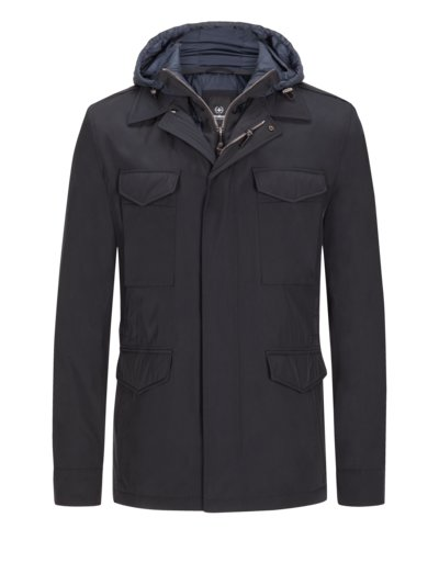 Field jacket with hooded yoke v MARINE