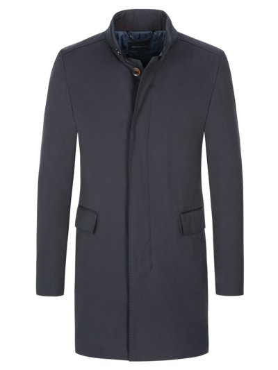 Coat with standing collar, Mayfair v BLUE