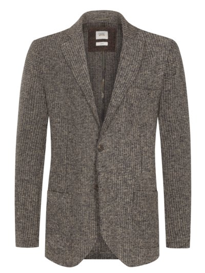 Blazer with micro pattern v MARINE