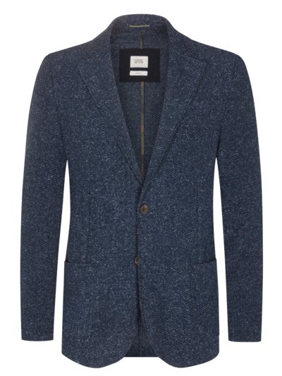 Blazer with herringbone pattern v BLUE