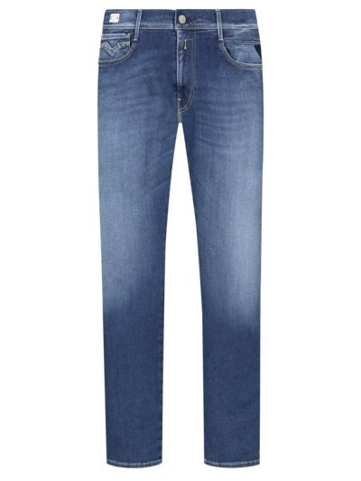 Denim jeans with stretch content, Anbass v BLUE