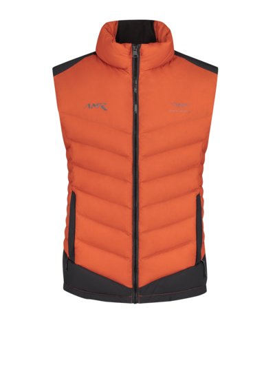 Quilted gilet in ultra light fabric v ORANGE