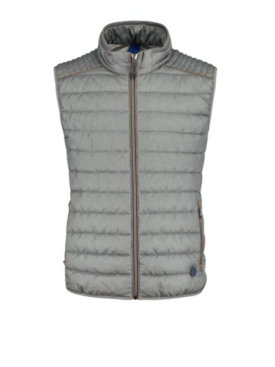 Quilted gilet in ultra light fabric v GREY
