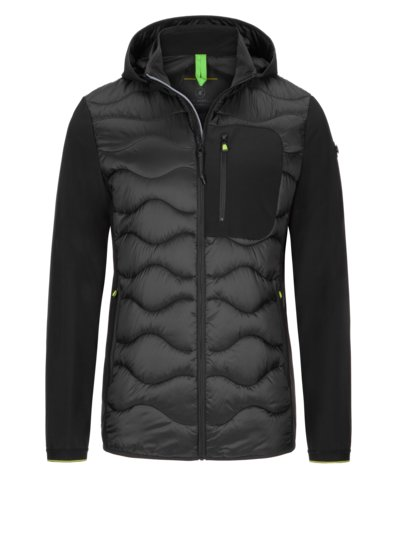 Casual quilted jacket v BLACK
