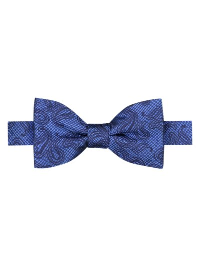 Silk bow tie with paisley pattern v ROYAL