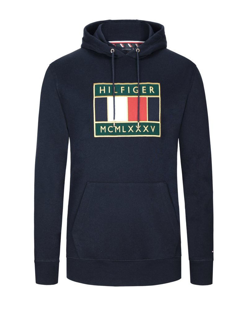 Tommy Hilfiger Sweatshirt with hood MARINE in plus size