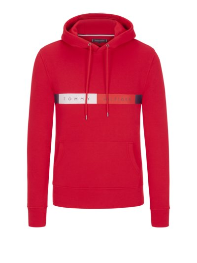 Sweatshirt with logo lettering v RED