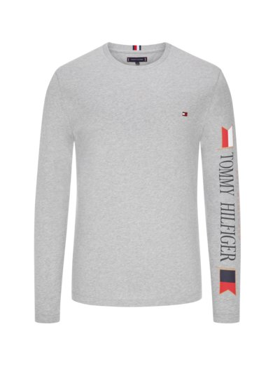 Long sleeve shirt, O-neck v GREY