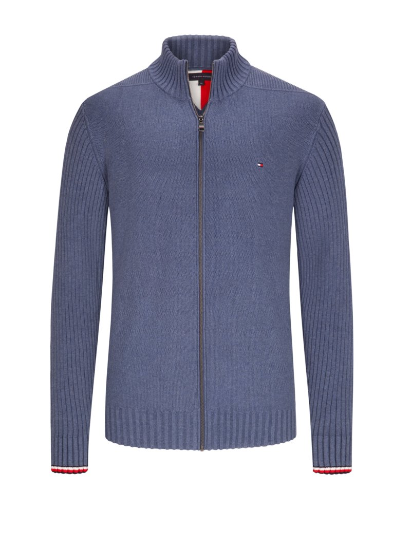 Tommy Hilfiger Cardigan made of pure cotton LIGHT BLUE in plus size