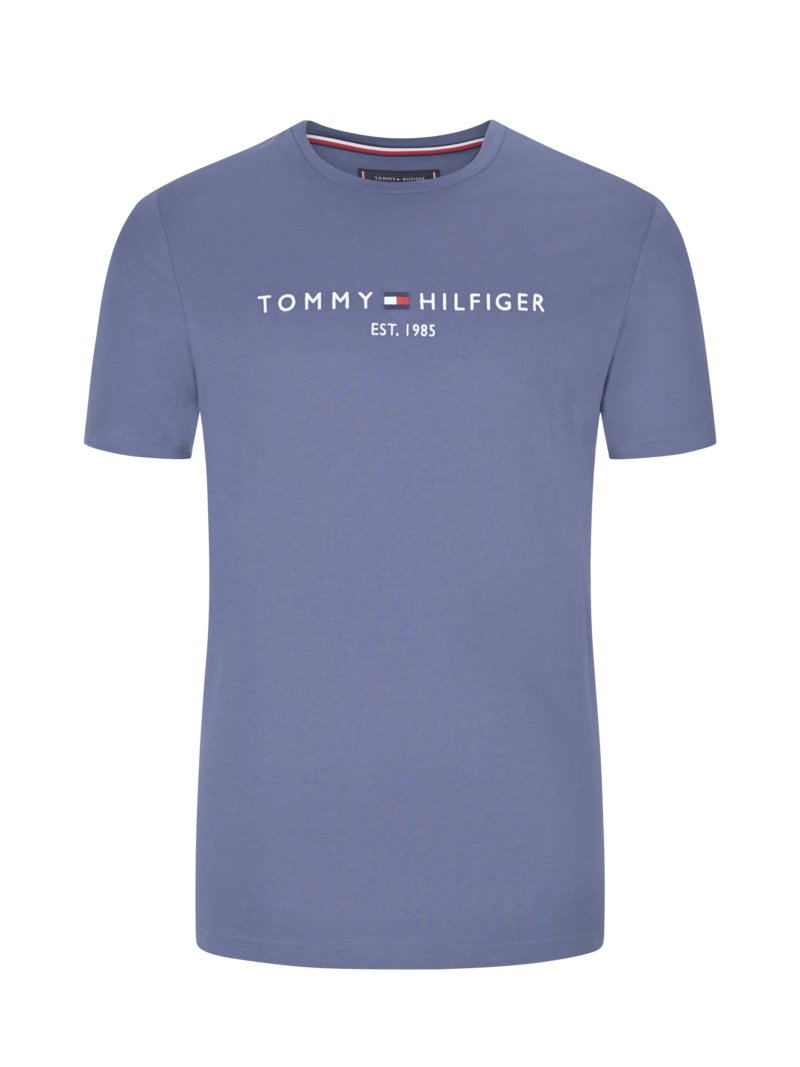 Tommy Hilfiger T-shirt with logo lettering BLUE in plus size