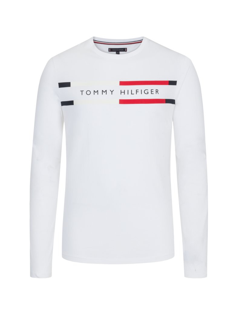 Tommy Hilfiger Sweatshirt with logo lettering WHITE in plus size