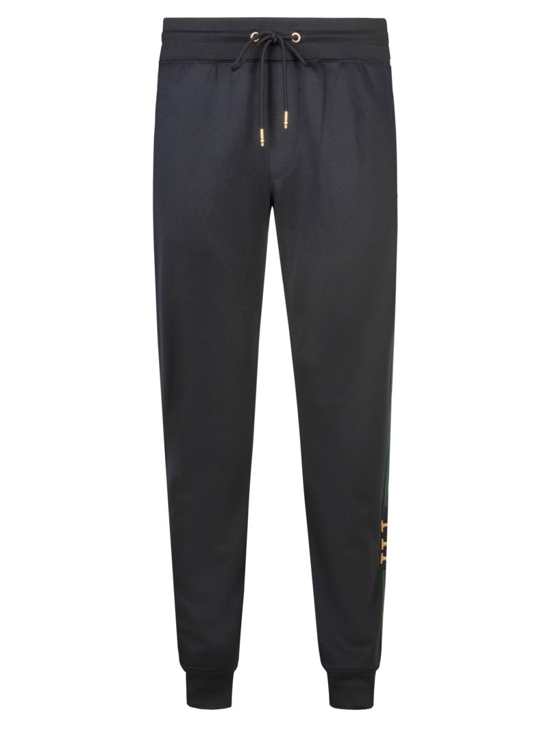 Tommy Hilfiger Jogging bottoms with contrasting stripes MARINE in plus size