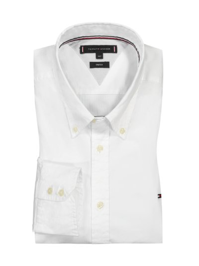 Casual shirt with stretch content v WHITE