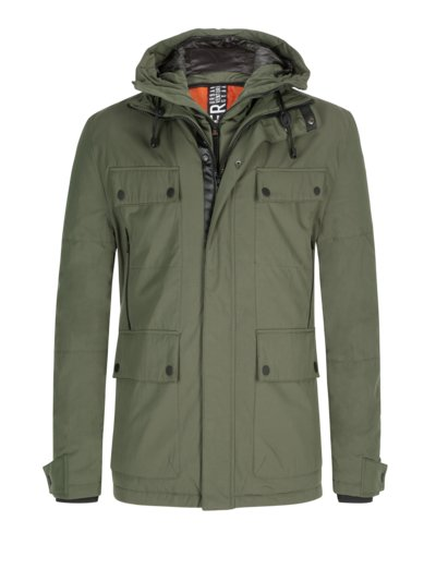 Field jacket v GREEN